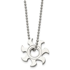 Chisel Stainless Steel Sun Burst Necklace