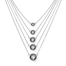 Chisel Stainless Steel Glass Polished Necklace with 2 inch extension