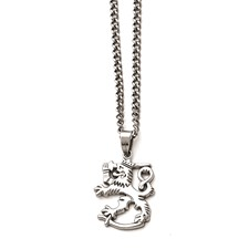 Stainless Steel Polished Lion w/2in ext. Necklace