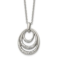 Stainless Steel CZ Necklace