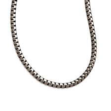 Stainless Steel Polished and Antiqued 5.50mm Franco 21.5in Chain