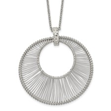 Stainless Steel Polished Wire Circle w/2in ext. Necklace