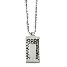 Chisel Stainless Steel Mesh Necklace