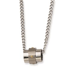 Chisel Stainless Steel Gold-plated Accent Necklace