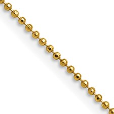 Chisel Yellow Rhodium over Brass 1.50mm Plated Ball Chain