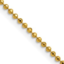 Chisel Yellow Rhodium over Brass 2.00mm Plated Ball Chain