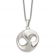 Stainless Steel Polished w/2in ext. Necklace