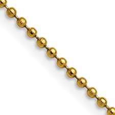 Chisel Stainless Steel Gold-plated 2.0mm 18 inch Ball Chain