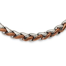 Stainless Steel Polished Brown IP-plated 24in. Necklace