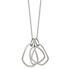 Stainless Steel Polished 24in with 2in ext Necklace