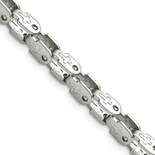 Stainless Steel Polished Fancy Link 24in Chain