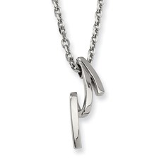 Chisel Stainless Steel Pendant Necklace