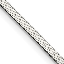 Stainless Steel Polished 3.3mm 24in Herringbone Chain
