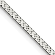 Stainless Steel Polished 3.4mm 24in Herringbone 24in Chain