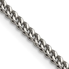 Stainless Steel Polished 2.5mm 22in Franco Chain