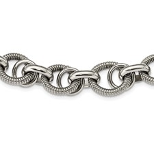 Chisel Stainless Steel Fancy Link Necklace