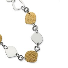 Chisel Stainless Steel Plated Fancy Link Necklace