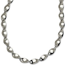 Chisel Stainless Steel Polished Twisted 20 inch Necklace