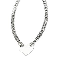 Chisel Stainless Steel Polished Heart 20 inch Necklace