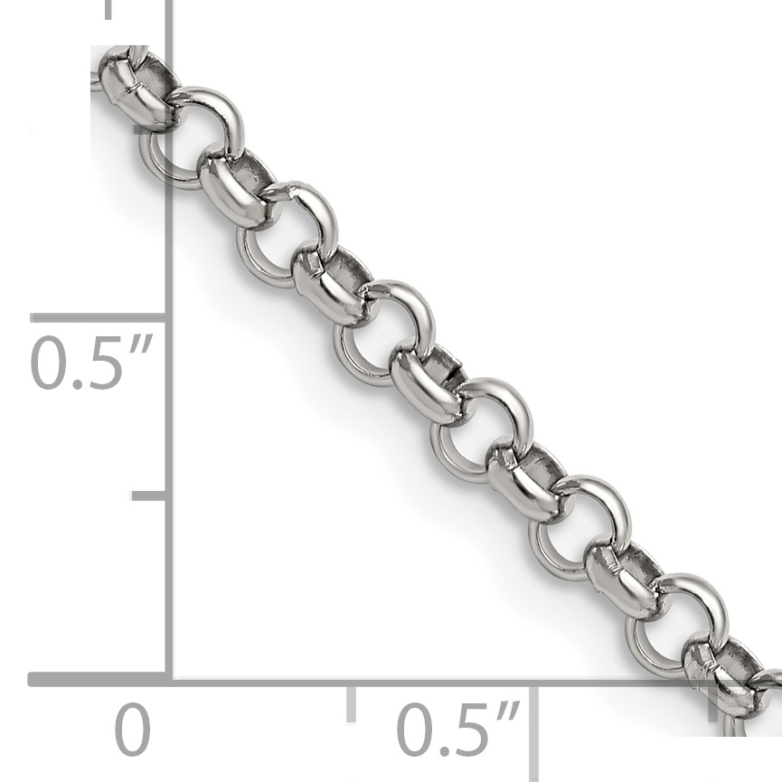 STAINLESS Steel 4.60mm 24in Rolo Chain (24in long)