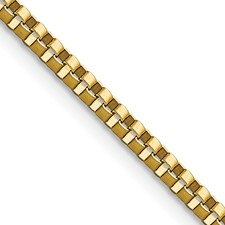 Chisel Stainless Steel Gold-plated 2.4mm 18 inch Box Chain