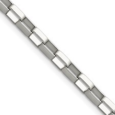 Chisel Stainless Steel 4.8mm 8 inch Square Link Chain