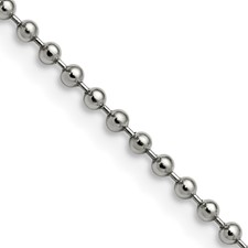 Chisel Stainless Steel 2.4mm 18 inch Ball Chain