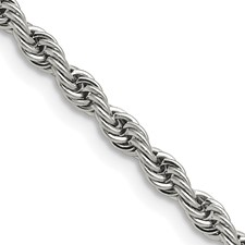 Chisel Stainless Steel 4.0mm 22 inch Rope Chain