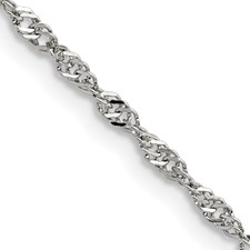 Chisel Stainless Steel 2.5mm 18 inch Singapore Chain