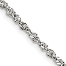 Chisel Stainless Steel 3.0mm 18 inch Singapore Chain