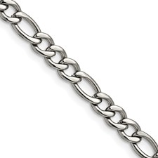 Chisel Stainless Steel 5.30mm 7 inch Figaro Chain