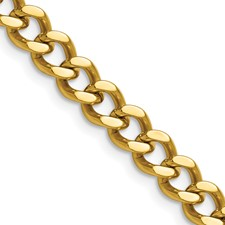 Chisel Stainless Steel Gold-plated 7.5mm 20 inch Curb Chain