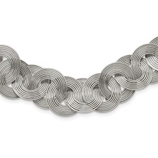 Chisel Stainless Steel Multiple Cirlces 19 inch Necklace