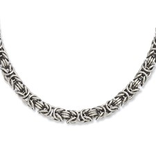 Chisel Stainless Steel Fancy Link 18 inch Necklace