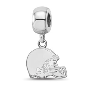 SS Rhodium-plated NFL LogoArt Cleveland Browns Extra Small Dangle Charm
