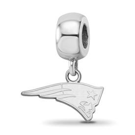 SS Rhodium-plated NFL LogoArt New England Patriots Small Dangle Charm