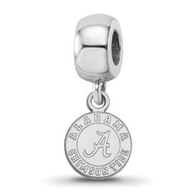 Sterling S. Rh-plated LogoArt University of Alabama XS Dangle Bead Charm