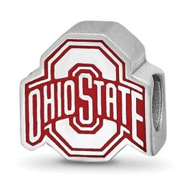 SS LogoArt The Ohio State University Block O Enam Extruded Logo Bead