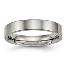 Titanium Polished Flat Comfort Back Ring