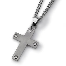 Chisel Titanium Cross Necklace