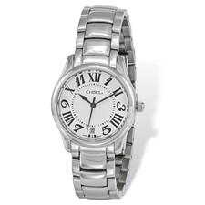 9f3f589edb3c Ladies Chisel Stainless Steel White Dial Watch