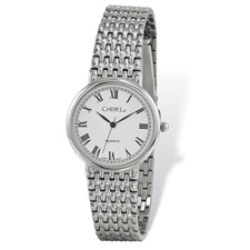 Mens Chisel Stainless Steel White Dial Watch