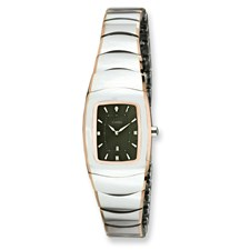 Chisel Ladies Tungsten with Rose Gold Plated Edge Gray Watch