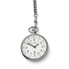 Chisel Stainless Steel White Dial Pocket Watch