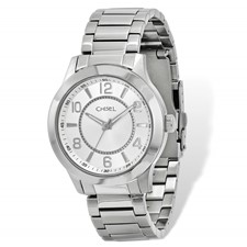 Mens Chisel Stainless Steel Silver Dial Watch