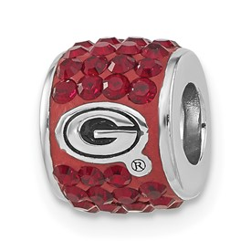 S/S UNIV OF GEORGIA PREMIER CRYSTAL BEAD CHARM
