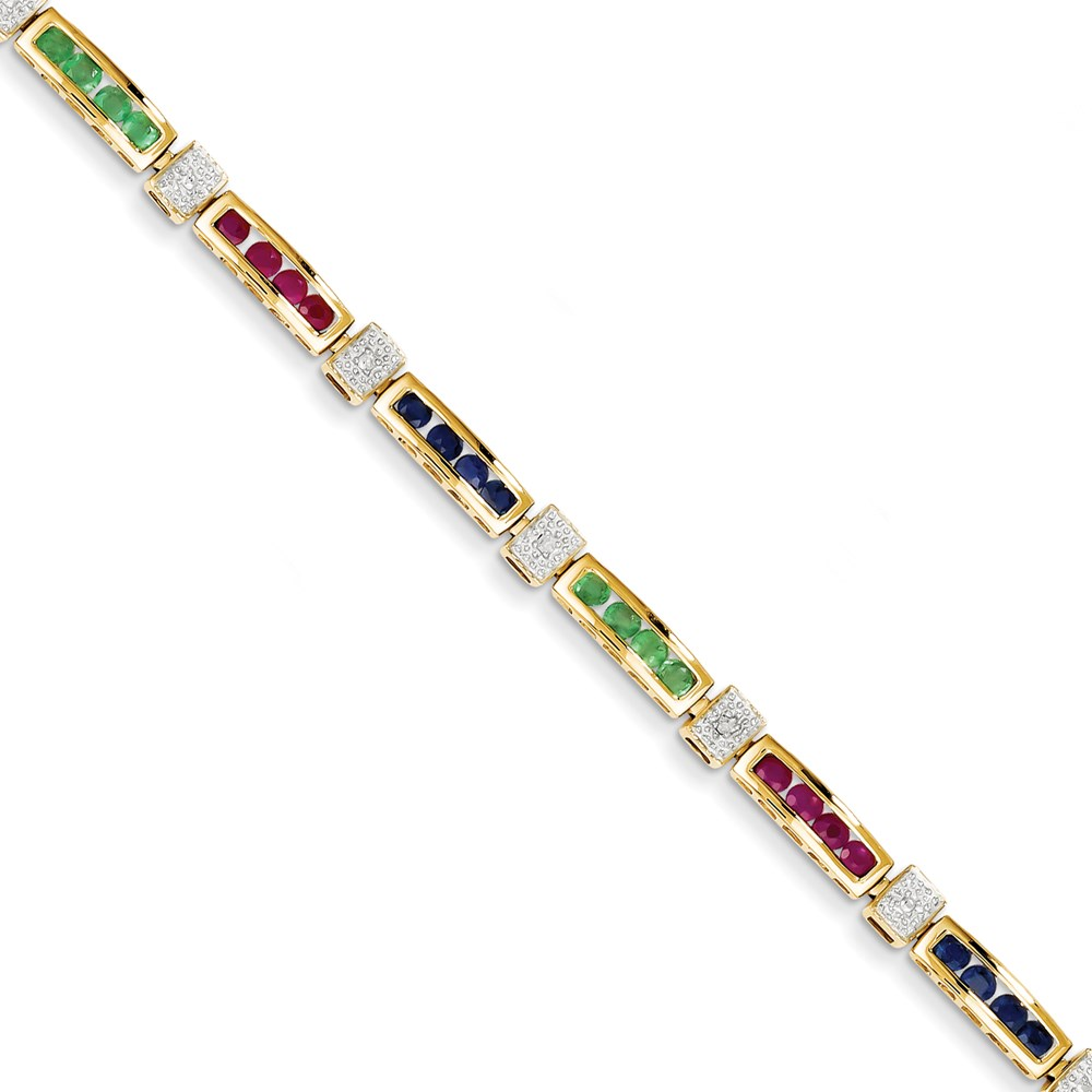 Ct Gold Ruby And Diamond Bracelet