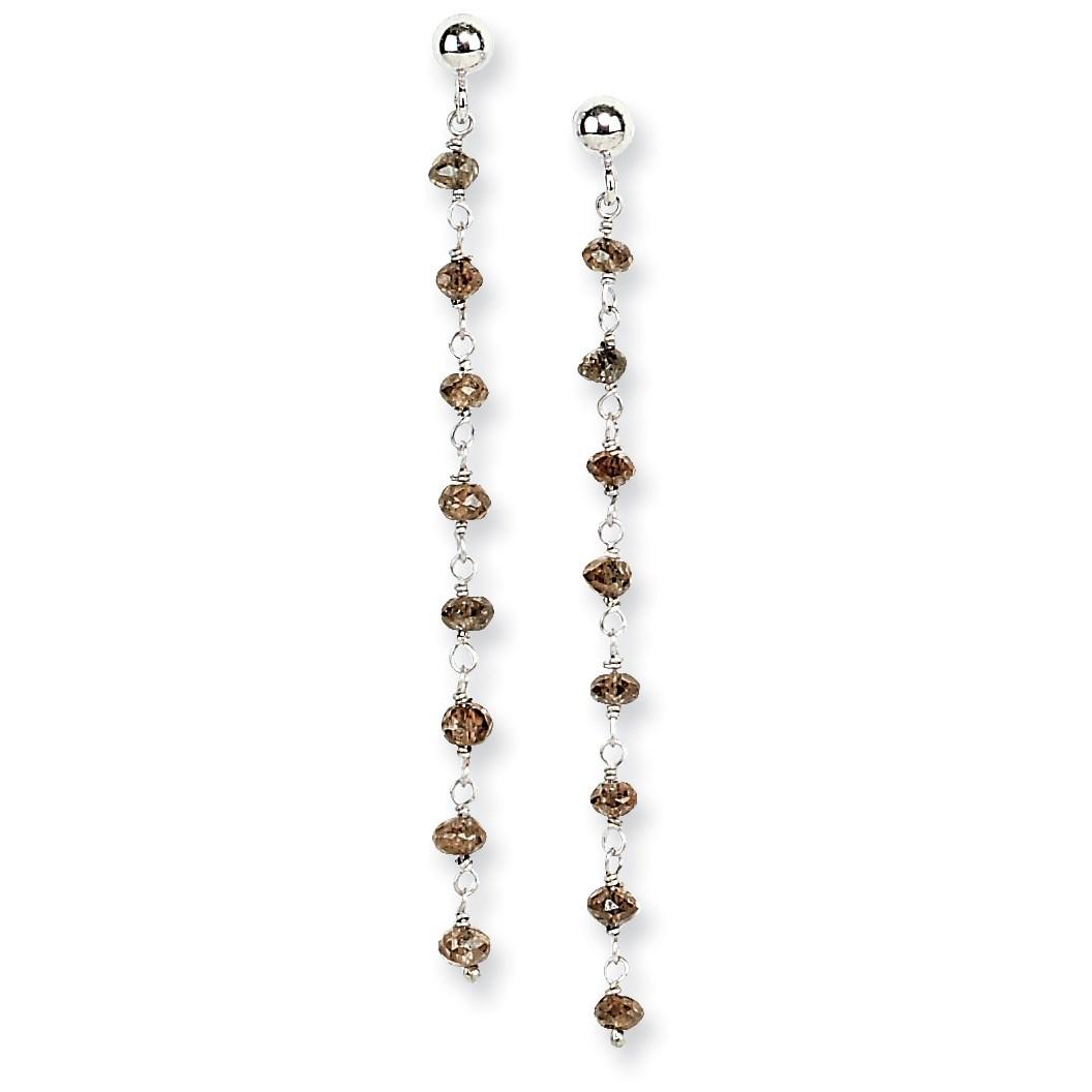 14k-White-Gold-Brown-Diamond-Briolette-Earrings-1-7IN-Long