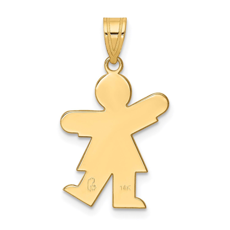 14k-Yellow-Gold-Girl-Charm-1in-x-0-5in miniature 4