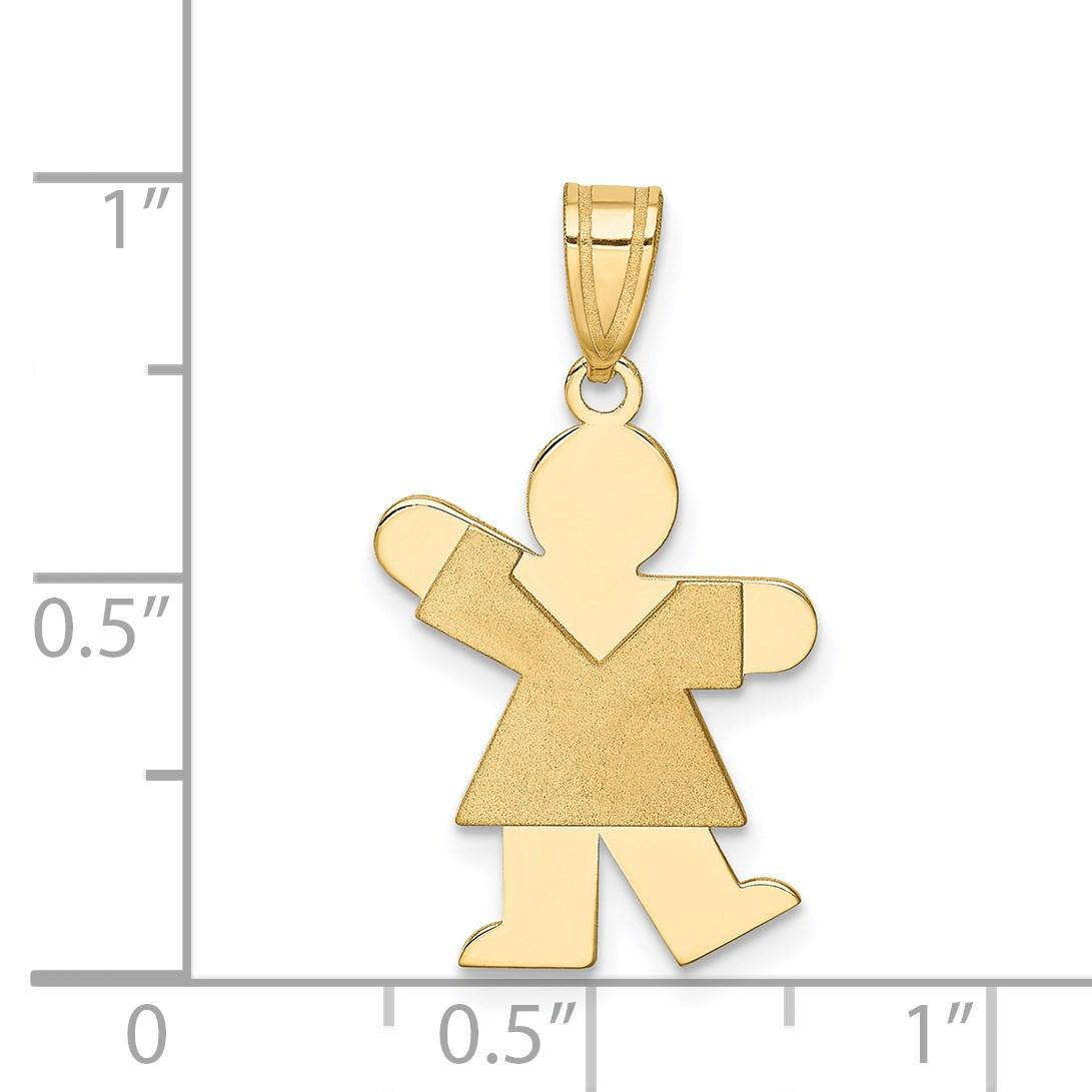 14k-Yellow-Gold-Girl-Charm-1in-x-0-5in miniature 3